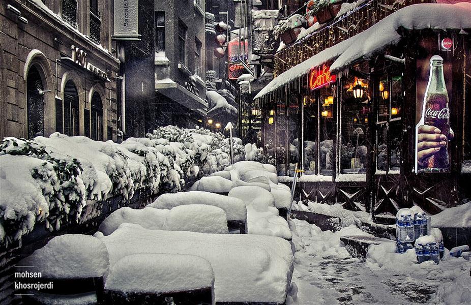 هنر عکاسی محفل عکاسی محسن خسروجردی #زمستان#برف عکس سایز ۵۰*۷۰