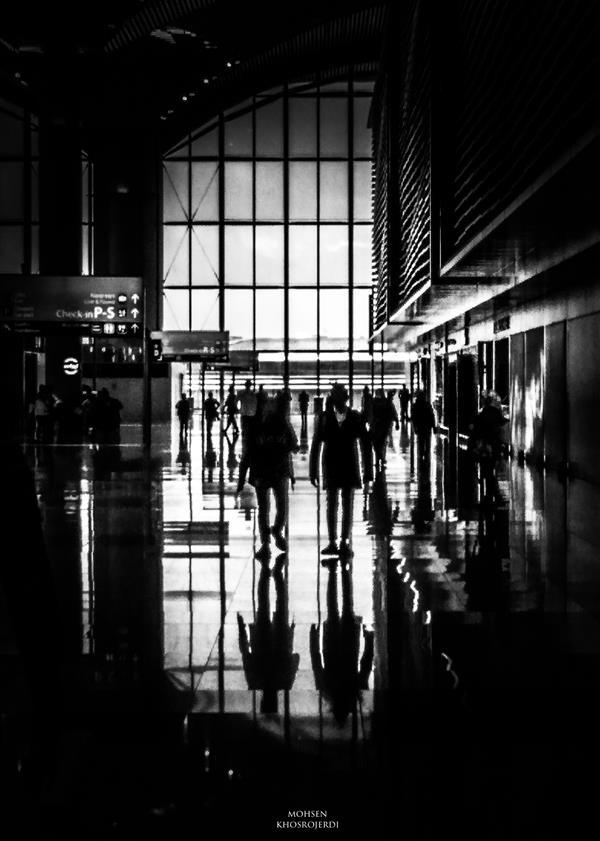 هنر عکاسی محفل عکاسی محسن خسروجردی #سیاه و سفید#موبایل گرافی#سفر