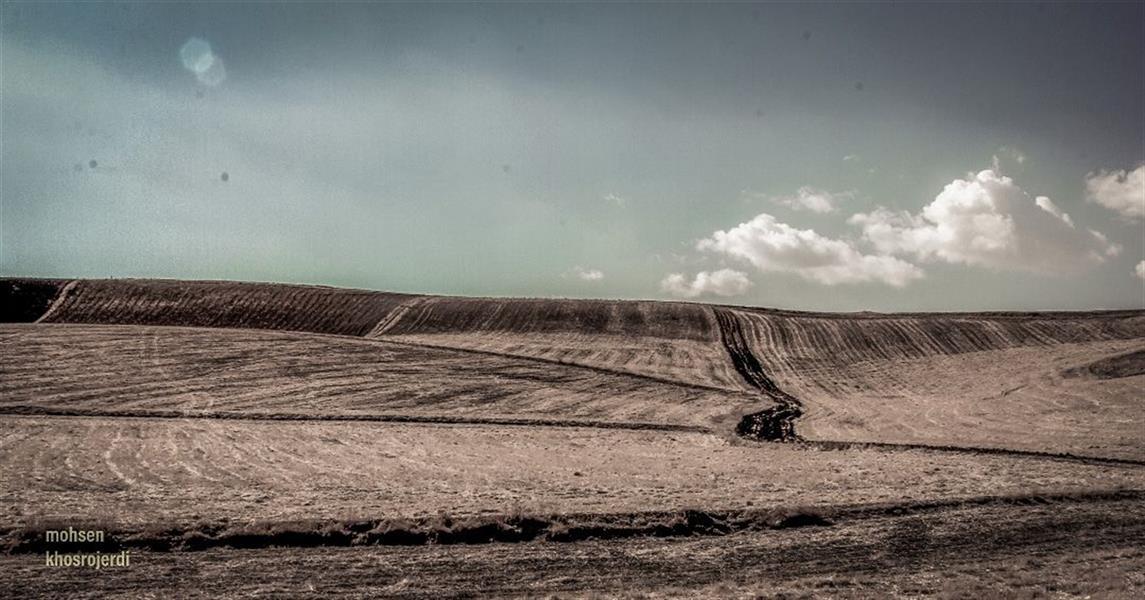 هنر عکاسی محفل عکاسی محسن خسروجردی #آسمان#ابر#راه#تنهایی