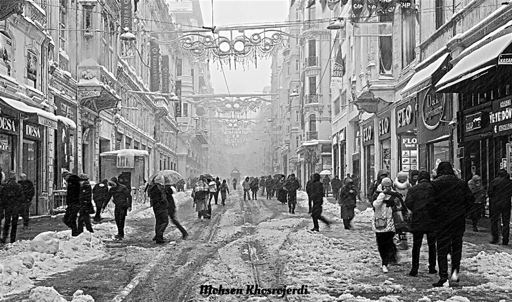هنر عکاسی محفل عکاسی محسن خسروجردی #مستند اجتماعی#برف و زندگی