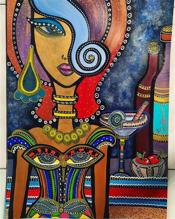هنر نقاشی و گرافیک محفل نقاشی و گرافیک سپیده صاحبدل #اکرلیک #لاک #مارکر #اکلیل #۹۹ #مستانه #سپیده_صاحبدل