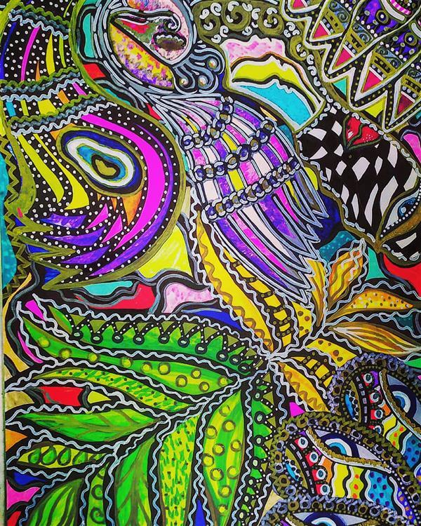 هنر نقاشی و گرافیک محفل نقاشی و گرافیک سپیده صاحبدل #sepidehsahebdelart #acrylicpainting #acrylic  #blacklightart #fluorescent #artwork #peacock #nature #media #colorfull #painter #drawing #هنرمدرن #بلکلایت #طاووس #طبیعت #نقاشی #اکرلیک  #سپیده_صاحبدل #بلکلایت #کوبیسم #انتزاعی #اکسپرسیونیسم #مدرنیسم
