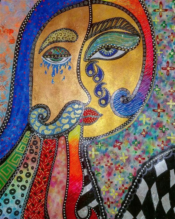 هنر نقاشی و گرافیک محفل نقاشی و گرافیک سپیده صاحبدل #sepidehsahebdelart #artwork #iranianart #acrylicpainting #blacklightart #fluorescentcolors  #blacklight #acrylicart #watercolorpainting #watercolor #ghajar #woman #man #kings #king #people #kingofiran #artworld #سپیده_صاحبدل #پادشاهان_ایران #غم #ایرانیان #اکرلیک #فلورسنت #بلکلایت #هنرایرانی #هنرذهنی
