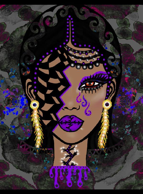 هنر نقاشی و گرافیک محفل نقاشی و گرافیک سپیده صاحبدل #violet #digitalar   چاپ روی بوم مخمل#sepidehsahebdel #99