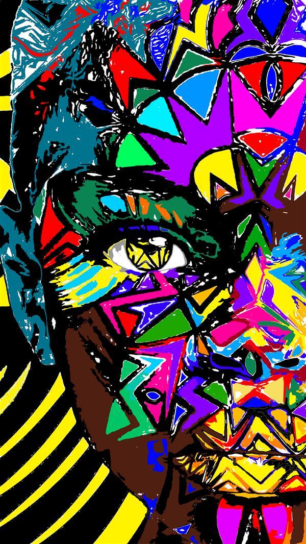 هنر نقاشی و گرافیک محفل نقاشی و گرافیک سپیده صاحبدل #دیجیتال_آرت #چاپ روی بوم #۹۹ #دخترآفریقایی #سپیده صاحبدل