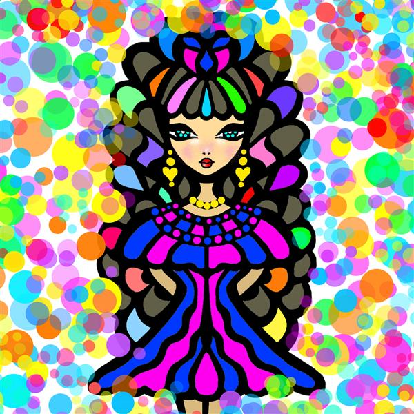 هنر نقاشی و گرافیک محفل نقاشی و گرافیک سپیده صاحبدل #digitalart #canvas   sepidehsahebdel#99#mybarbygirl