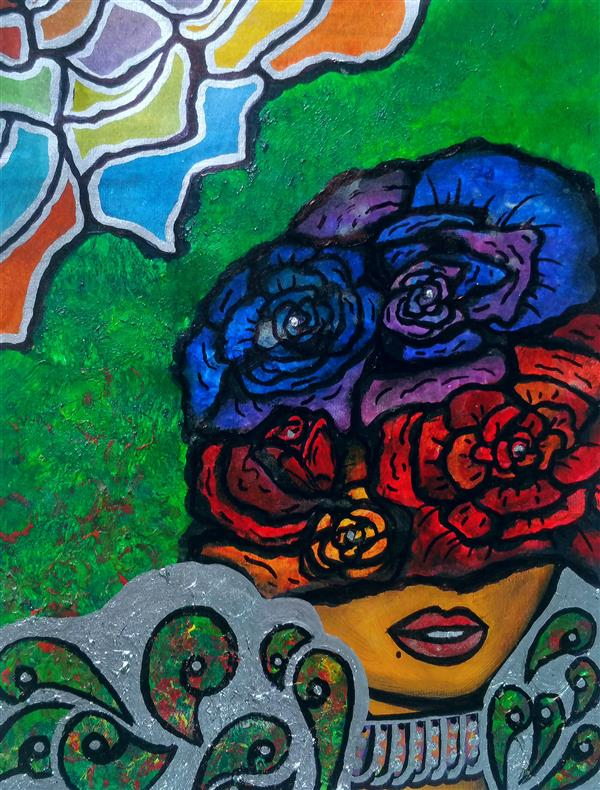 هنر نقاشی و گرافیک محفل نقاشی و گرافیک سپیده صاحبدل میکس مدیا آبرنگ آکرلیک رنگ روغن #گلرخ #سپیده_صاحبدل