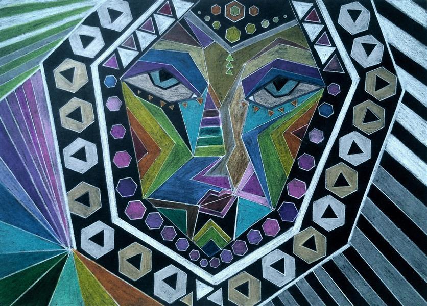 هنر نقاشی و گرافیک محفل نقاشی و گرافیک سپیده صاحبدل #مدادرنگی روی مقوای دودی #Sepidehsahebdelart