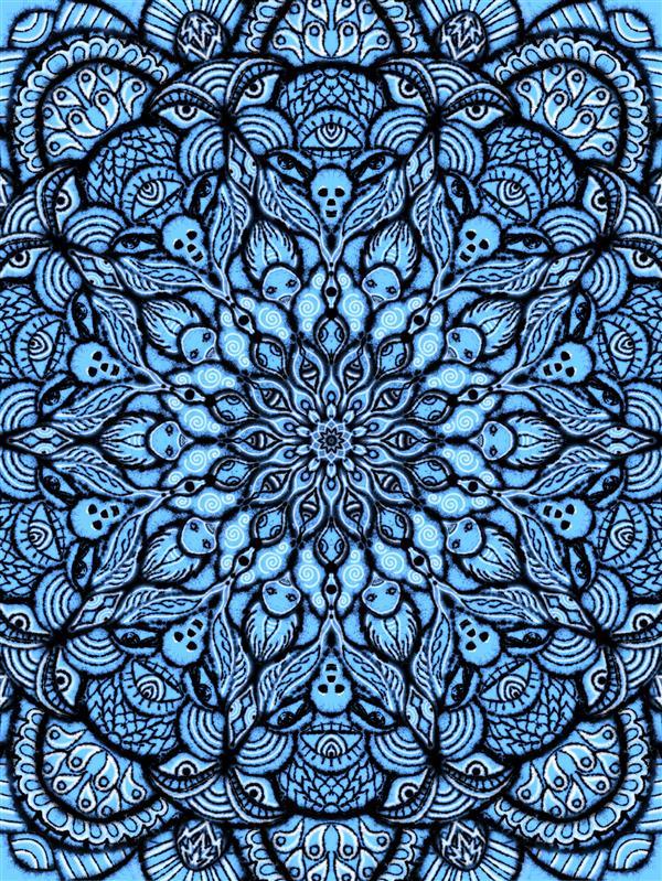 هنر نقاشی و گرافیک محفل نقاشی و گرافیک سپیده صاحبدل #نقاشی دیجیتال طرح اسکلت جغد #ماندالا #اسلیمی_مدرن #طراحی فرش #طراحی کاغذدیواری و پارچه قابل چاپ روی هر سطح و متریال