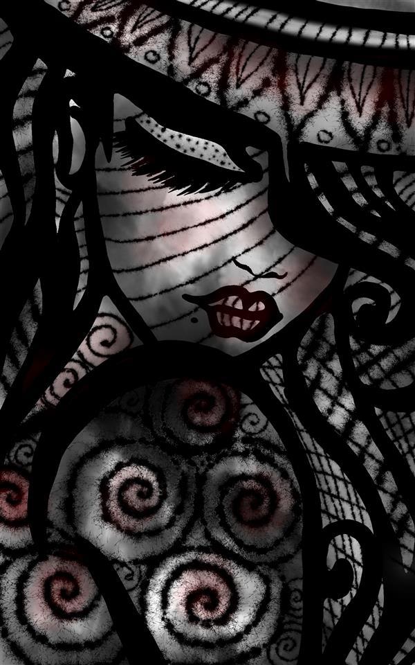 هنر نقاشی و گرافیک محفل نقاشی و گرافیک سپیده صاحبدل #دیجیتال آرت #دختر #چاپ روی شاسی ۵۰ در ۷۰ ۴۰۰۰۰۰تومان