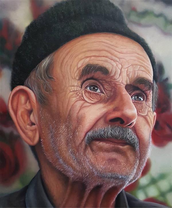 هنر نقاشی و گرافیک محفل نقاشی و گرافیک صابره محمدی  #رنگ روغن  #هایپررئال صابره محمدی
