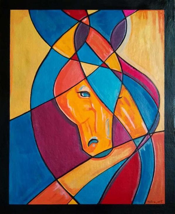 هنر نقاشی و گرافیک محفل نقاشی و گرافیک هنرهلیا(helias_art) #اسب#کوبیسم/هلیا دشت آرای#helias_art/سایز:50*60/تکنیک:اکریلیک/ترکیب مواد(نقش برجسته)/پایه تابلو:چوب تخته شاسی ۱.۵ سانتیمتر
