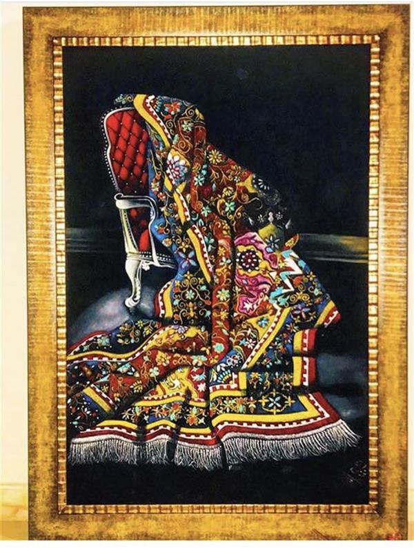 هنر نقاشی و گرافیک محفل نقاشی و گرافیک ghazalart نام اثر:قالیچه تکنیک:رنگ و روغن قابل سفارش در هر سایزی