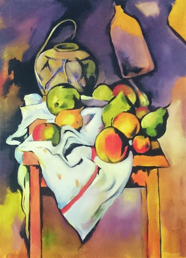 هنر نقاشی و گرافیک محفل نقاشی و گرافیک fereshteh کپی از روی اثر پل سزان