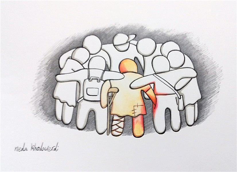هنر نقاشی و گرافیک محفل نقاشی و گرافیک ندا خداوردی قراچه داغی @nedakhodaverdi_cartoon2#کاریکاتور #کودک_خیابانی#مداد_رنگی #روان_نویس روی#مقوا.بدون قاب.اندازه:آ۴.