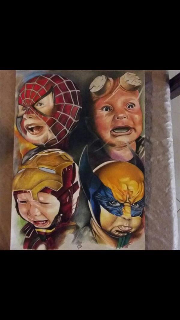 هنر نقاشی و گرافیک محفل نقاشی و گرافیک Mehrad فرزندان هالیوود  Hollywood Kids فابرکستل پلیکروم