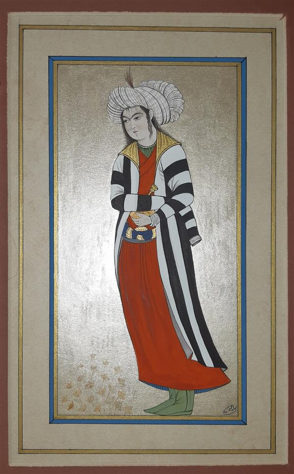 هنر نقاشی و گرافیک محفل نقاشی و گرافیک samane amoonabi تک چهره مینیاتور مکتب اصفهان یا صفوی