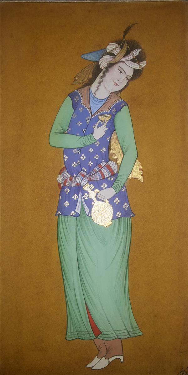 هنر نقاشی و گرافیک محفل نقاشی و گرافیک samane amoonabi تک چهره#مینیاتور #مکتب اصفهان یا صفوی