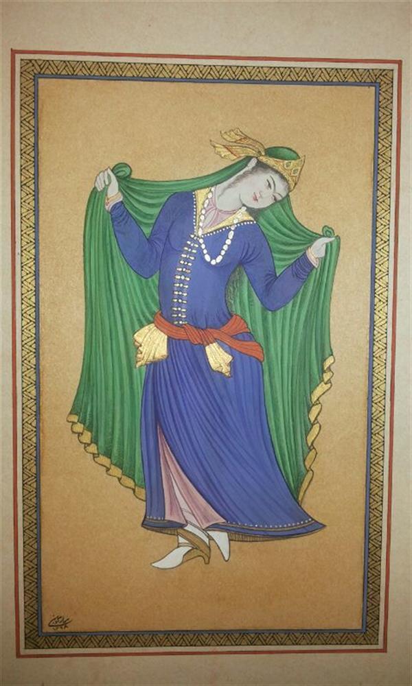 هنر نقاشی و گرافیک محفل نقاشی و گرافیک samane amoonabi مکتب اصفهان ابعاد 12.5*19.5 مقوا ماکت هلندی،فروخته شد گواش و آبرنگ #طلای 24 عیار