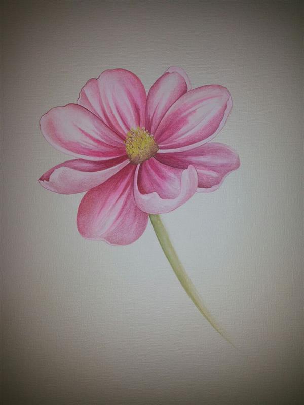 هنر نقاشی و گرافیک محفل نقاشی و گرافیک samane amoonabi گل به شیوه پرداز ابعاد 30*40 گواش و آبرنگ مقوا ماکت هلندی