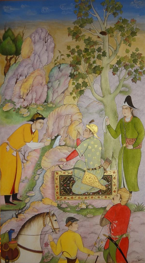 هنر نقاشی و گرافیک محفل نقاشی و گرافیک samane amoonabi برگی از گلستان سعدی #مینیاتور