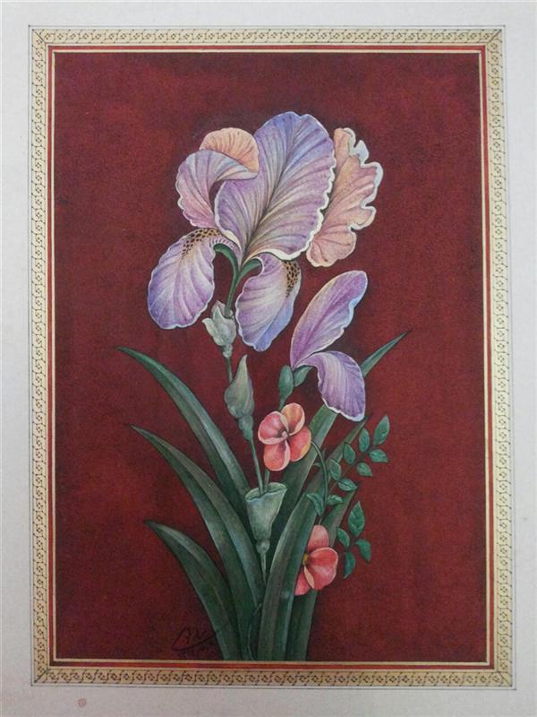 هنر نقاشی و گرافیک محفل نقاشی و گرافیک samane amoonabi #گل و مرغ