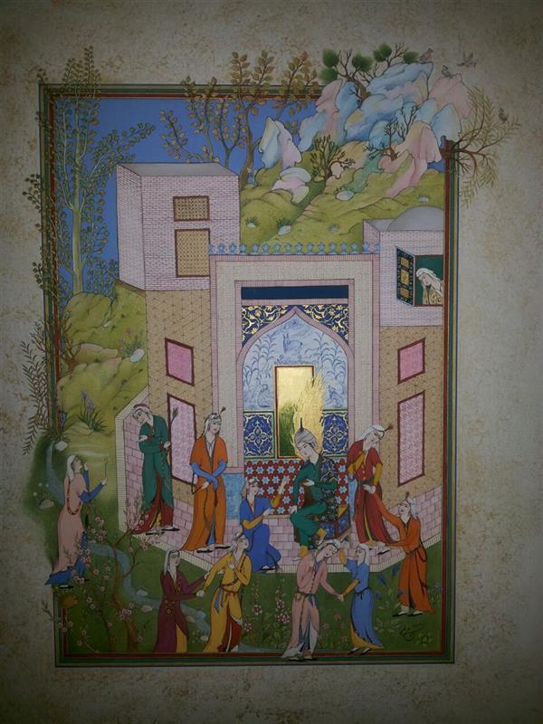 هنر نقاشی و گرافیک محفل نقاشی و گرافیک samane amoonabi صحبت کردن حضرت یوسف برای ندیمه ها