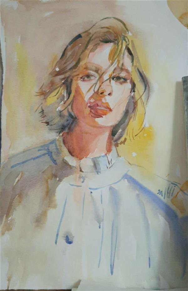 هنر نقاشی و گرافیک محفل نقاشی و گرافیک ابراهیمی #watercolor 35×50
