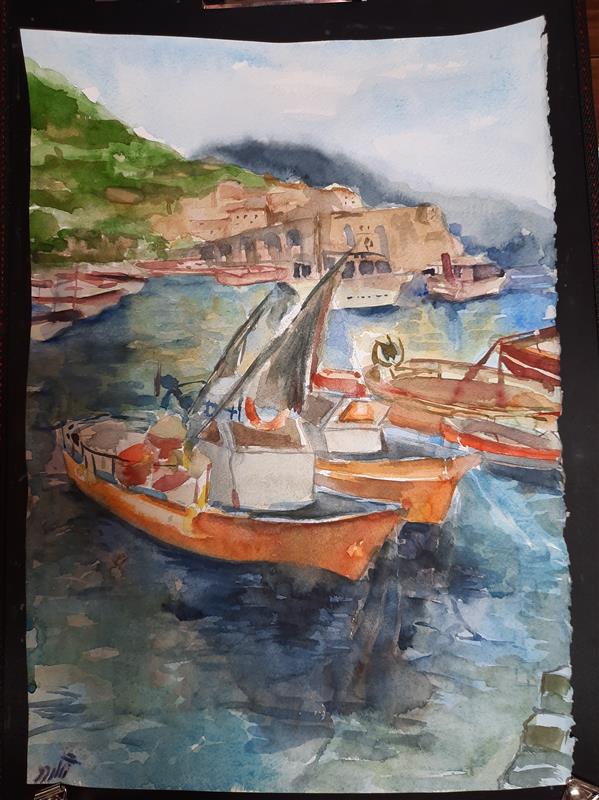 هنر نقاشی و گرافیک محفل نقاشی و گرافیک ابراهیمی #watercolor 50×35
