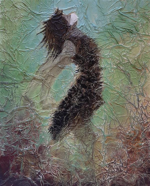 هنر نقاشی و گرافیک محفل نقاشی و گرافیک لیلا سرابیان ابعاد 40 در 50 #قرنطینه #ویروس کرونا # میکس مدیا # نقاشی  # Quarantine # corona virus # mix media # painting
