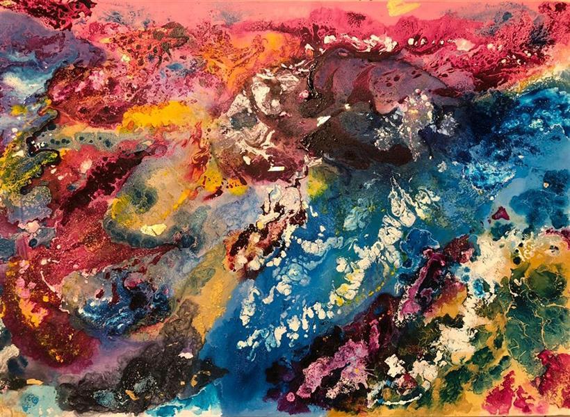 هنر نقاشی و گرافیک محفل نقاشی و گرافیک Be_an_artist #آبستره#نقاشی#طراحی#نقاشی مدرن#modern painting#abstractسایز 120*80