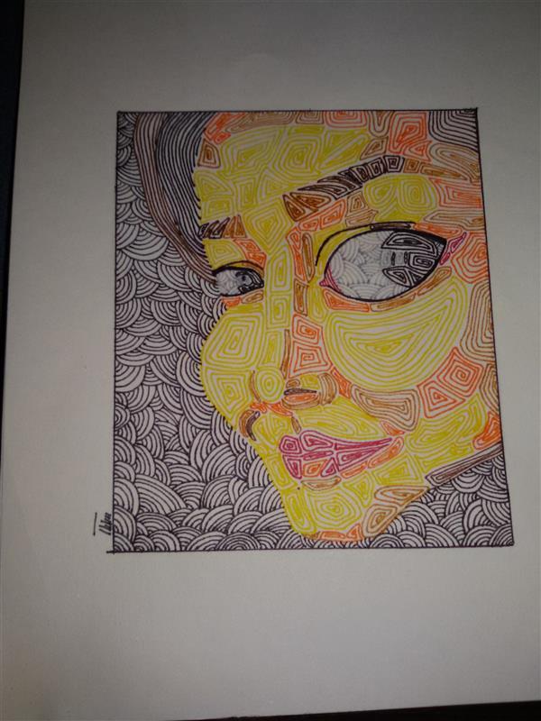 هنر نقاشی و گرافیک محفل نقاشی و گرافیک ساناز ابراهیمی سلف پرتره مجموعه بیخوابی(اتود)