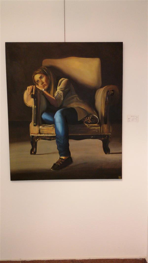 هنر نقاشی و گرافیک محفل نقاشی و گرافیک ساناز ابراهیمی تنهایی سایز: 120×100 رنگ و روغن روی بوم