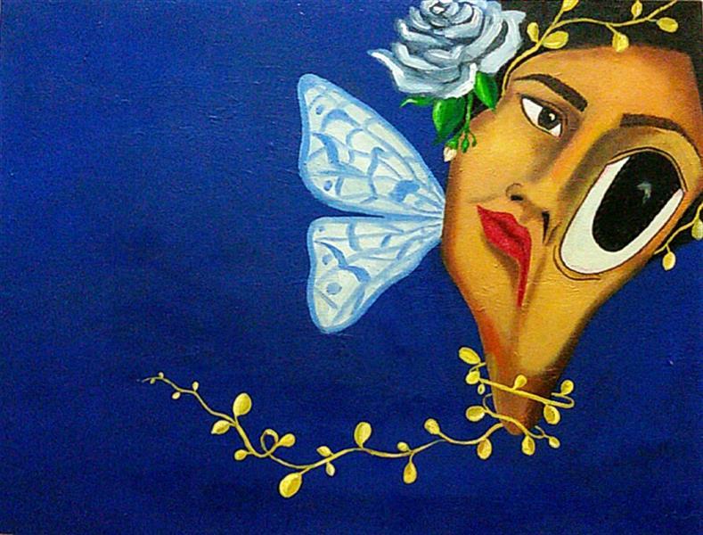 هنر نقاشی و گرافیک محفل نقاشی و گرافیک ساناز ابراهیمی از مجموعه سورئال بیخوابی سایز:40×30 رنگ و روغن روی بوم