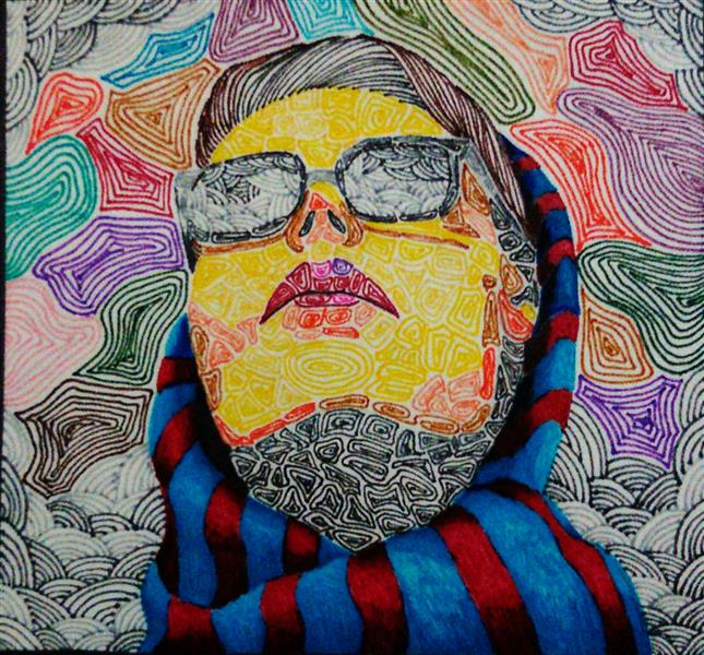 هنر نقاشی و گرافیک محفل نقاشی و گرافیک ساناز ابراهیمی سلف پرتره