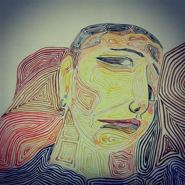 هنر نقاشی و گرافیک محفل نقاشی و گرافیک ساناز ابراهیمی از مجموعه بیخوابی