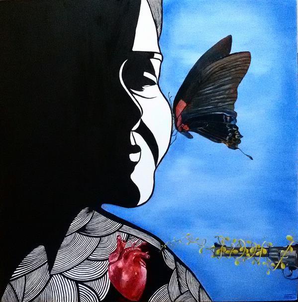 هنر نقاشی و گرافیک محفل نقاشی و گرافیک ساناز ابراهیمی نام اثر:سیرورت ابعاد: 50×50 رنگ و روغن روی بوم