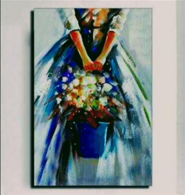 هنر نقاشی و گرافیک محفل نقاشی و گرافیک Yasflower #نقاشی  سبک رنگ روغن  اثر :شهره نیکوروش