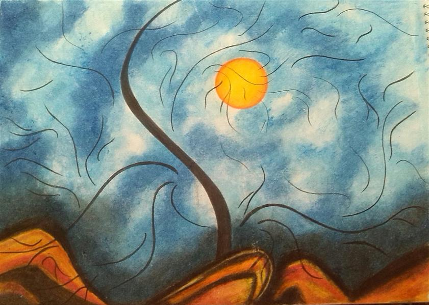 هنر نقاشی و گرافیک محفل نقاشی و گرافیک مریم خدیوی  #پاستل روغنی#نقاشی مدرن