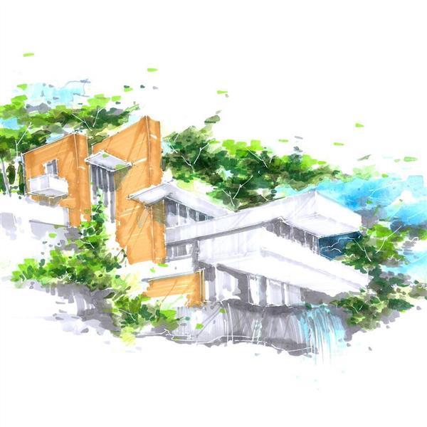 هنر نقاشی و گرافیک محفل نقاشی و گرافیک حسن تقی نژاد #اسکیس .معماری