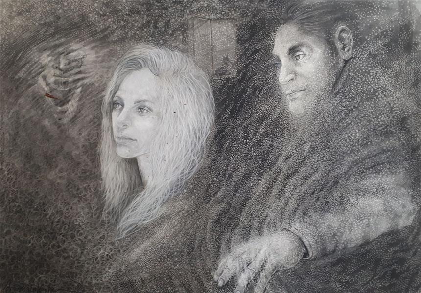 هنر نقاشی و گرافیک محفل نقاشی و گرافیک Amirreza koohi هنرمند: امیررضا کوهی  نام اثر: بدون عنوان ابعاد: ۱۰۰ × ۷۰ cm تکنیک: ذغال و کنته متریال: مقوا اشتنباخ