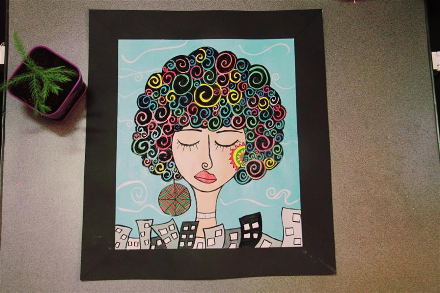 هنر نقاشی و گرافیک محفل نقاشی و گرافیک Maryam graphic نقاشی #کوبیسم با استفاده از#گواش بر روی#مقوا