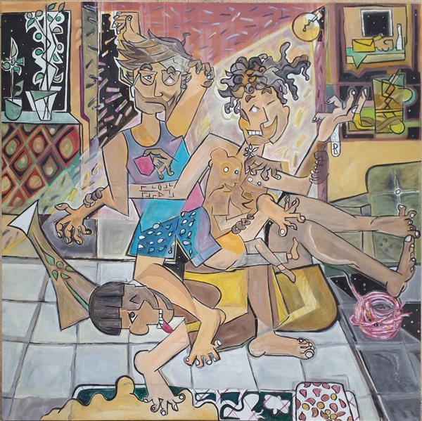 هنر نقاشی و گرافیک محفل نقاشی و گرافیک Emad Qanbari علی،عماد،عرفان ( شبی در خانه )