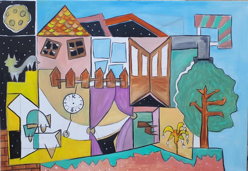هنر نقاشی و گرافیک محفل نقاشی و گرافیک Emad Qanbari Nanaei home's خونه ی ننه ای