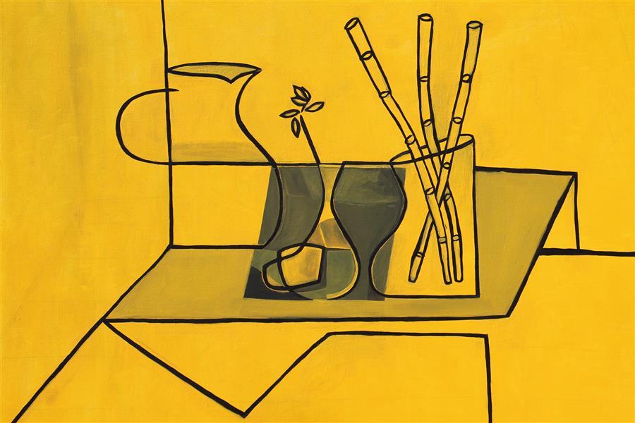 هنر نقاشی و گرافیک محفل نقاشی و گرافیک Emad Qanbari Kurz vor drei ساعت کمی مانده به سه ۱۰۰cm×۷۰cm