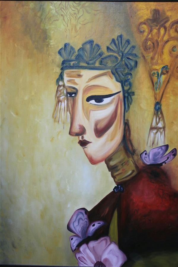 هنر نقاشی و گرافیک محفل نقاشی و گرافیک طلایه طاهرزاده #oil_color #woman #Abstra