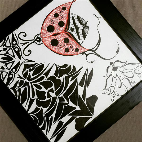 هنر نقاشی و گرافیک محفل نقاشی و گرافیک طلایه طاهرزاده #mandala #ladybug #talayeh_taherzadeh
