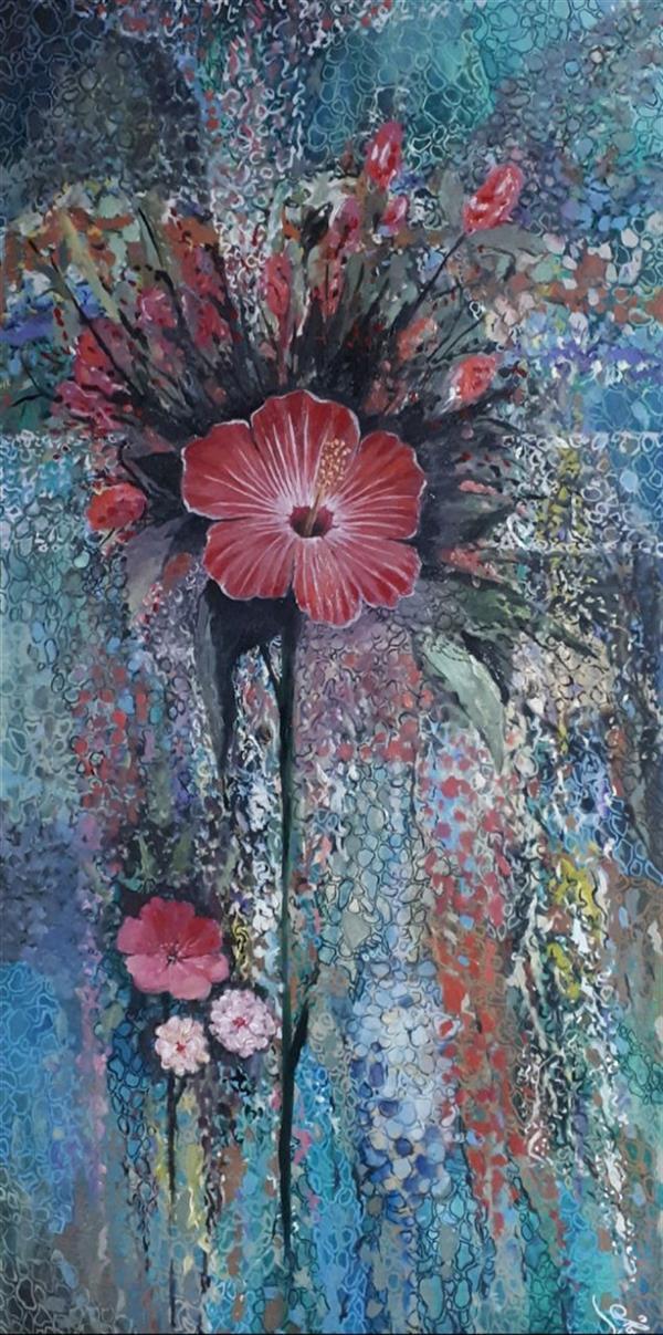 هنر نقاشی و گرافیک محفل نقاشی و گرافیک یعقوب شجاعی یعقوب شجاعی ۱۳۹۹ گل رنگ روغن روی بوم