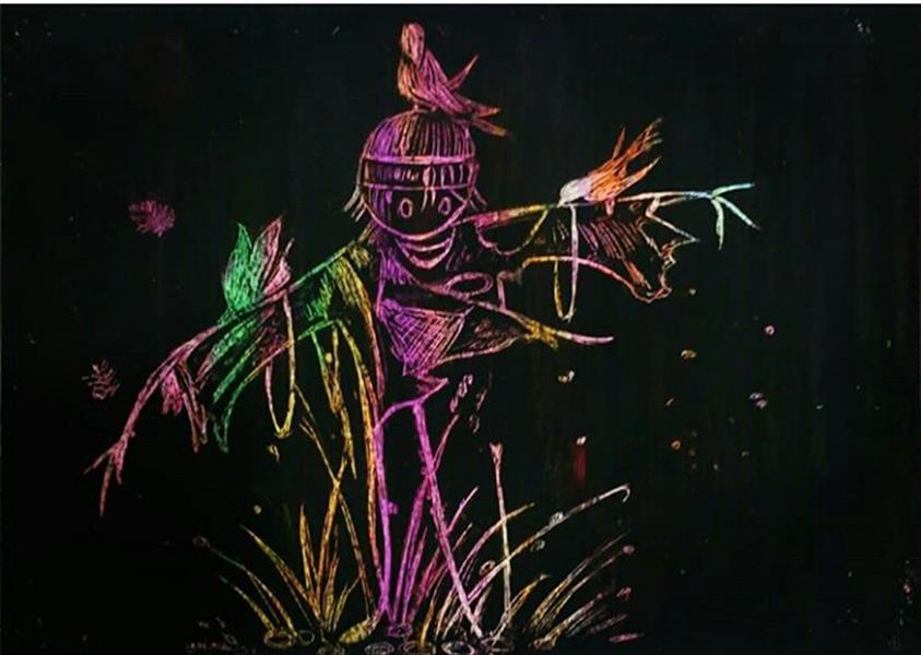 هنر نقاشی و گرافیک محفل نقاشی و گرافیک ساناز ابراهیمی فرد (sani ebra) #تکنیک_اسکرج_برد#سانازابراهیمی_فرد#سانی_ابرا #نقاشی #طراحی#هنرنقاشی