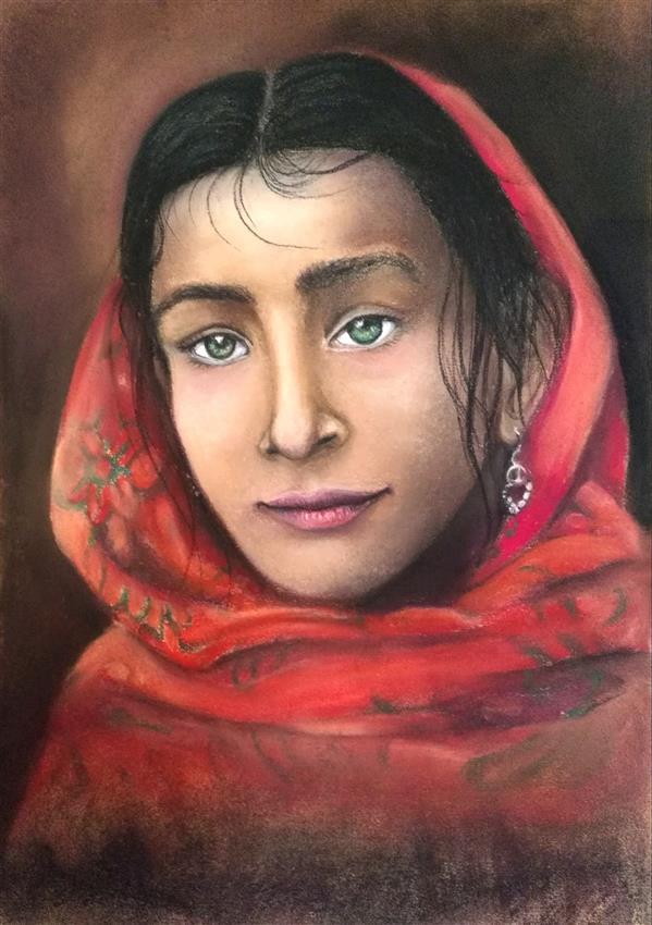 هنر نقاشی و گرافیک محفل نقاشی و گرافیک کتایون عمادی #پاستل #کتایون عمادی #قاب شده